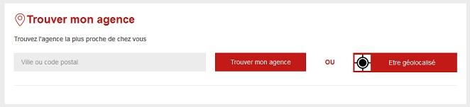 Page du site Generali vous permettant de trouver les coordonnées de votre agence.