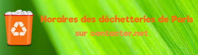 Contact dechetterie Paris