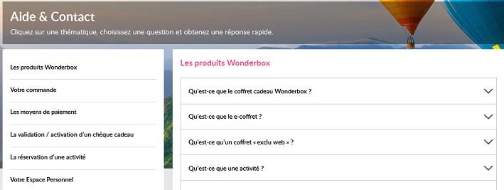 Formulaire Wonderbox