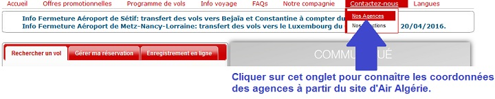 Mail Air Algerie