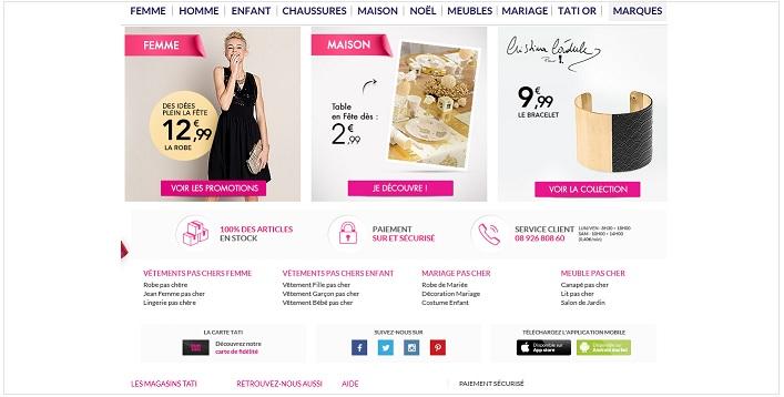Tati site web