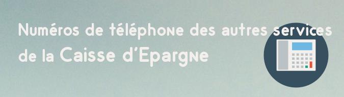 Telephone Caisse d'Epargne