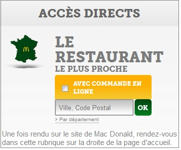 adresse mac donalds
