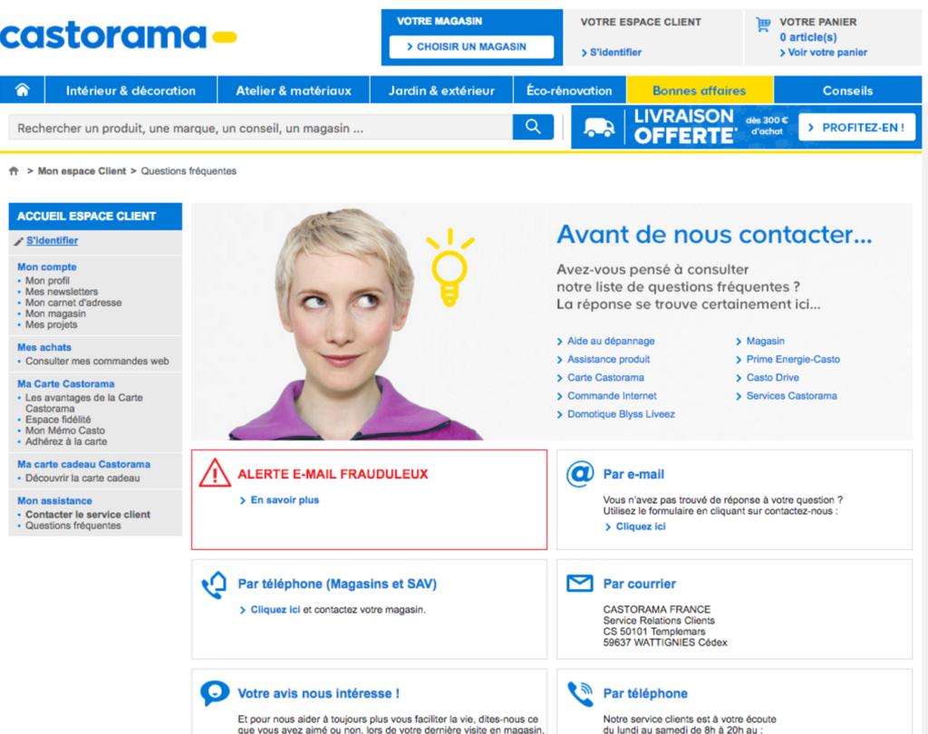 Contacter castorama france t l phone sav service for Castorama frise
