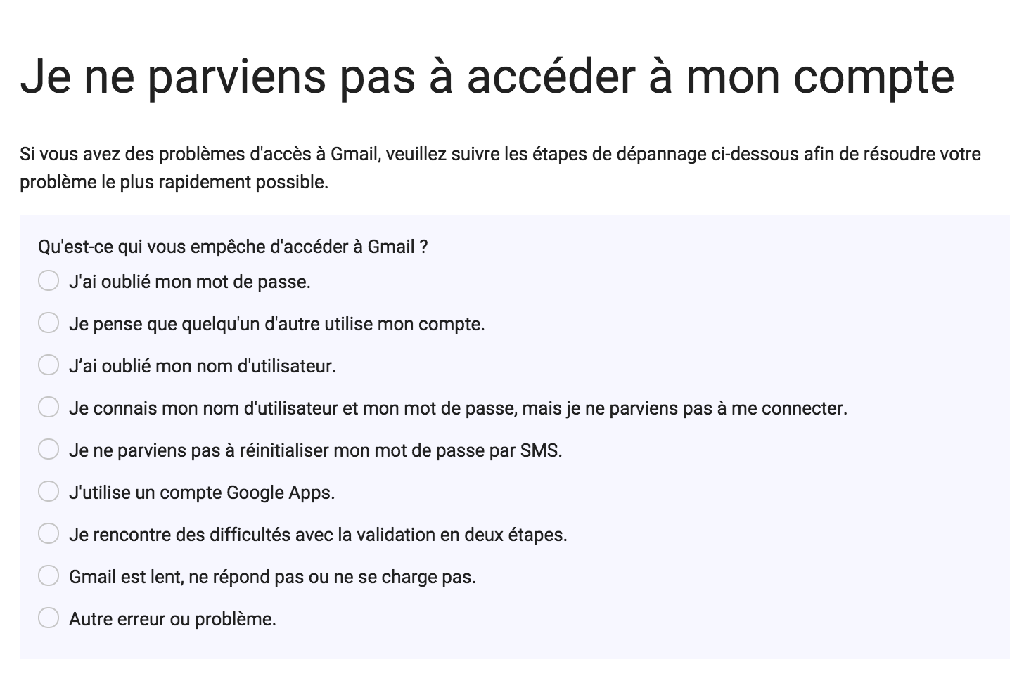 assistance gmail