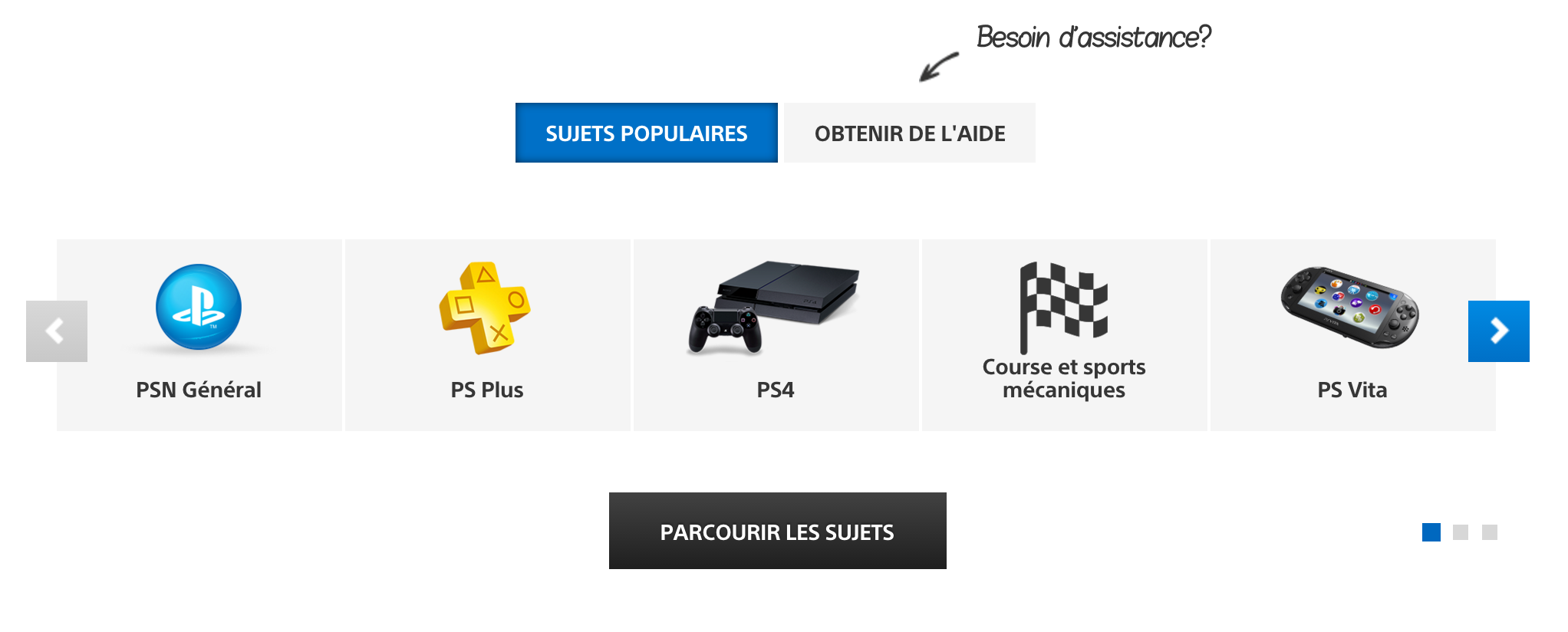 Aperçu du forum et Assistance Playstation
