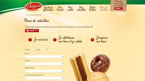 Page de contact Delacre