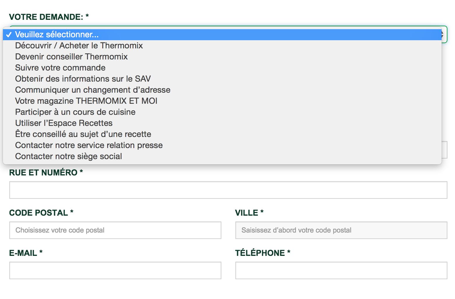Cliquez sur l'image pour accéder au formulaire de contact Thermomix