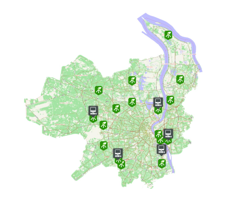 carte des centres de tri Bordeaux