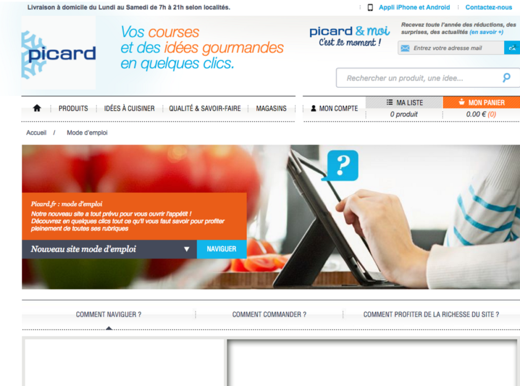 Site internet Picard