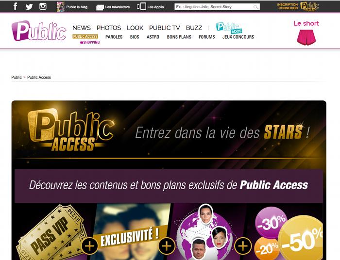 Site internet du magazine Public
