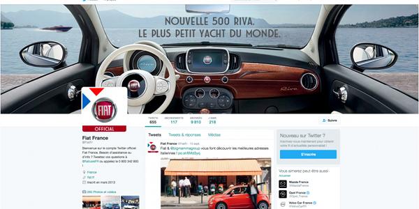 Page Twitter officielle de l'Assistance Fiat