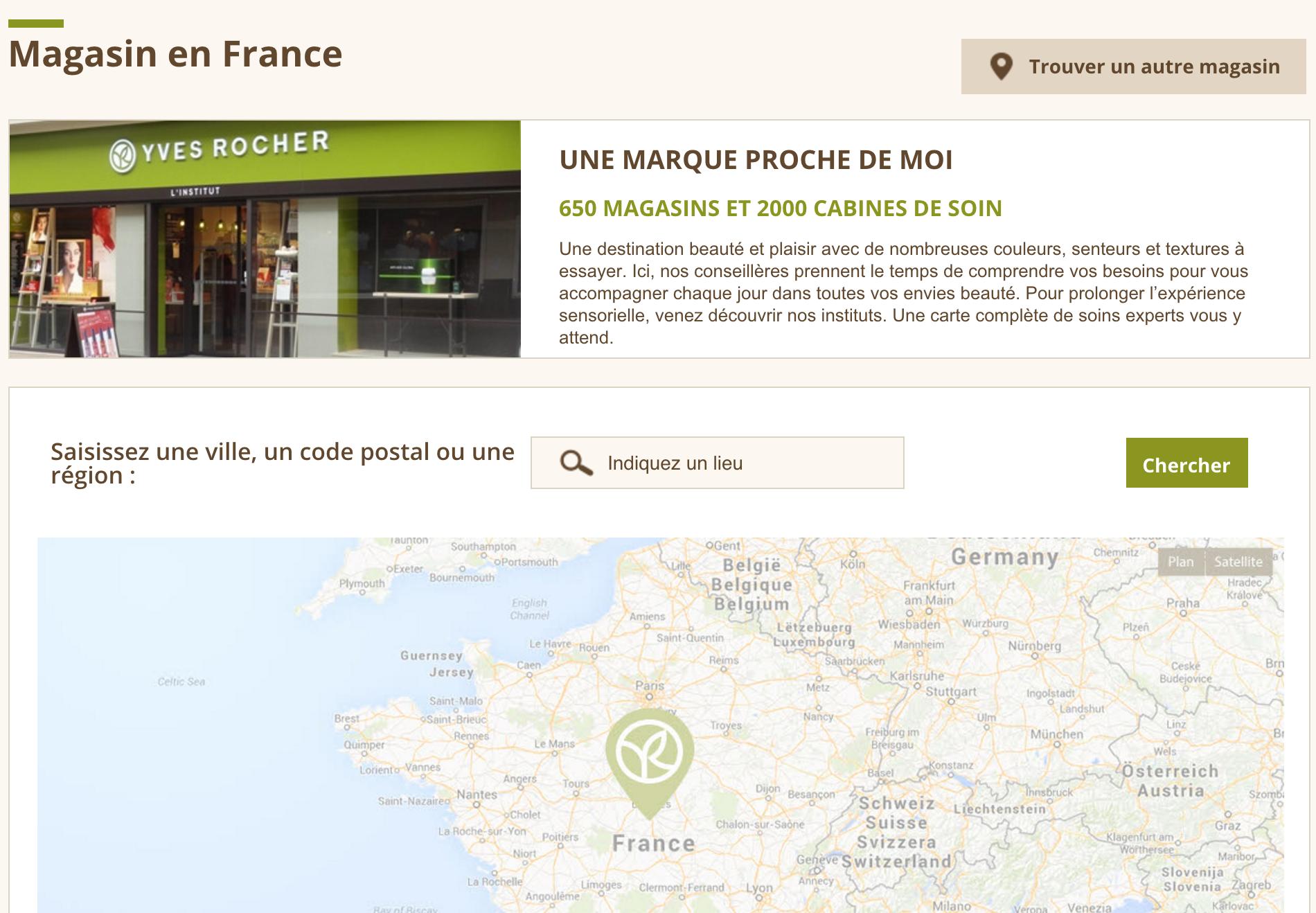 Cliquez sur la carte pour découvrir les coordonnées du magasin le plus proche de chez vous.